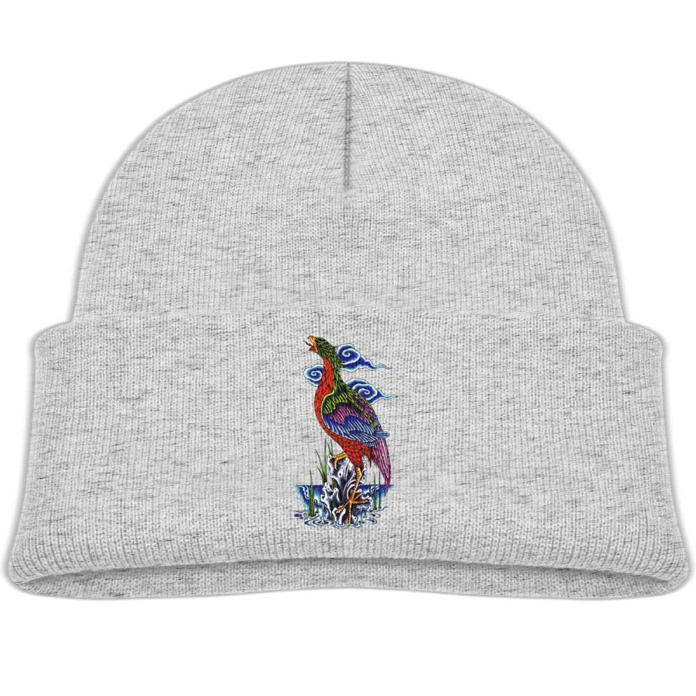 Beanie Caps Colored Crane Winter Knit Hat Baby Girls