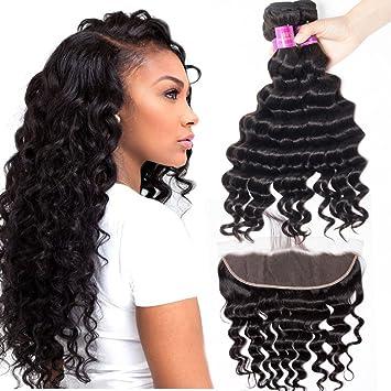 Amazon Com Star Show Brazilian Hair Loose Deep Wave Bundles With