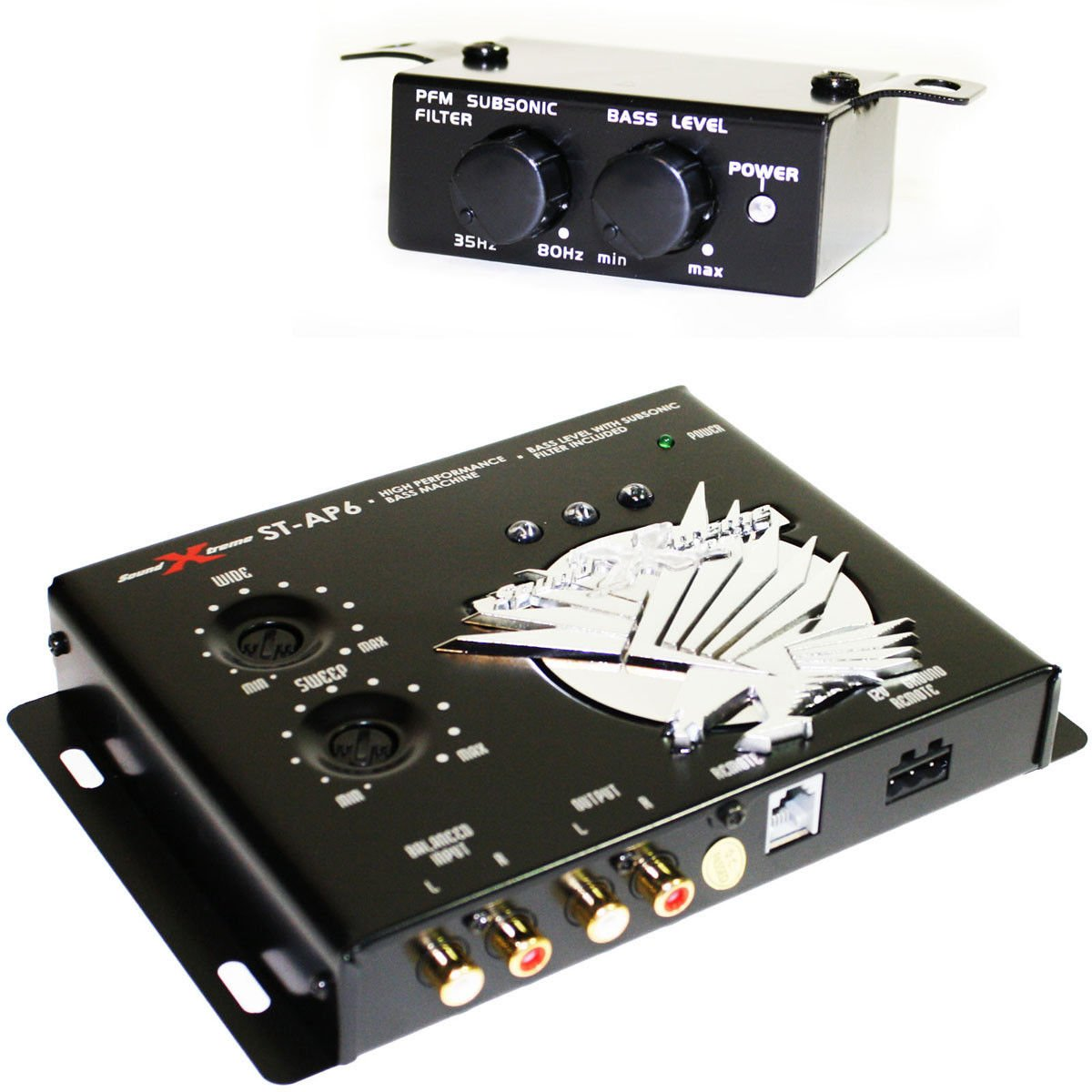 SoundXtreme BASS MACHINE EPICENTER SUBWOOFER EQUALIZATION SUB EQ ST-AP6 RP BX-12
