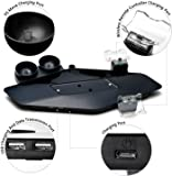 Megadream PS4 Vertical Stand for Sony Playstation 4 PS4 / PS4 Slim /PS4 Pro Controller Charger & Dual PS Move Motion Controller Charger & Sony VR Headset Helmet Hanging Holder Base