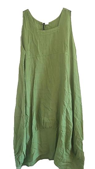 "bbdbcedf2e9 New Plus Size LAGENLOOK Quirky BALLOON Shaped BOHO Tulip LINEN Pocket Tunic  Dress XXL 50"""