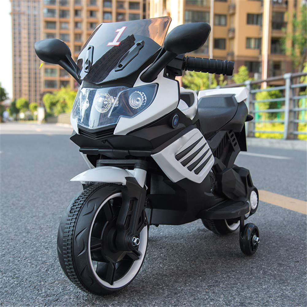 Bambino Moto Elettrico 12V Batteria Motocicletta Musica Motocross Con Luce A LED Veicolo Scooter,bianca