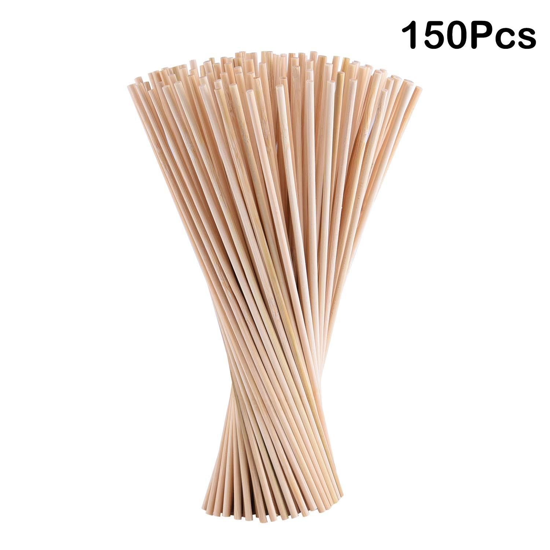 3 * 200mm TUPARKA 150 Paket nat/ürliche 30 cm Lange bambusd/übel stangen runde Handwerk holzst/äbchen f/ür DIY Handwerk