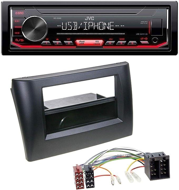 Caraudio24 Jvc Kd X252 1din Aux Usb Mp3 Autoradio Für Elektronik
