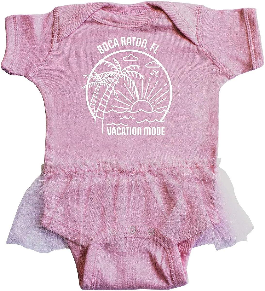 inktastic Summer Vacation Mode Boca Raton Florida Infant Tutu Bodysuit