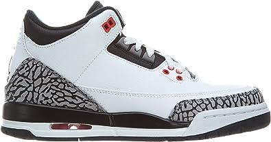 AIR Jordan 3 Retro GS Age Adolescent, Couleur Blanc