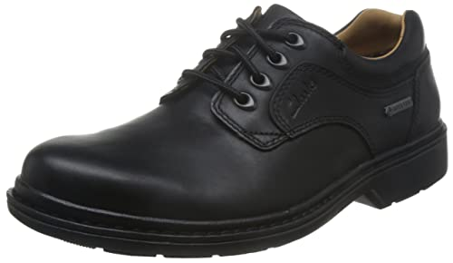 Clarks Rockie Lo GTX, Mens Derby Lace-up Shoes, Black (Black Waterproof