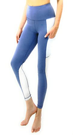 7933f97c17d477 Active Life Women's Leggings (Lg Black/Heather Charcoal White) (Small, Blue
