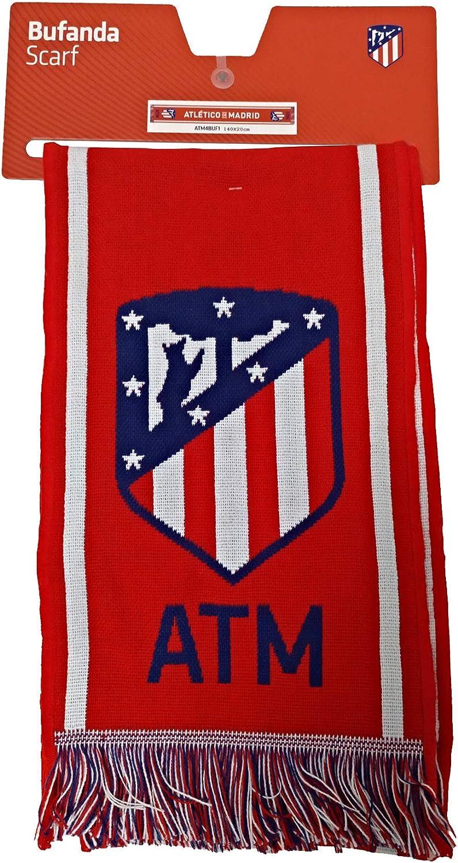 Bufanda Telar Atlético de Madrid - Nuevo Escudo - Rojo Blanco ...