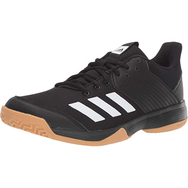 adidas Women's Ligra 6 Volleyball Shoe, BlackWhiteGum, 6.5