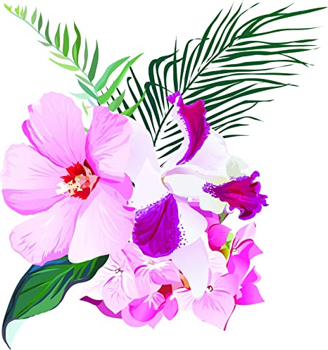 Amazoncom Pretty Elegant Pink Tropical Flower Arrangement Bunch