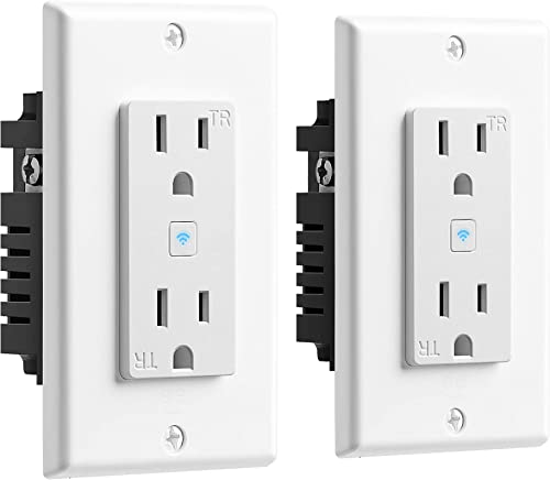 Geeni GN-WW215-199 WiFi 2 Wall Plug, 2 Pack No Hub Smart Outlet Compatible with Alexa, Google Assistant Microsoft Cortana, Requires 2.4 GHz Wi-Fi, White