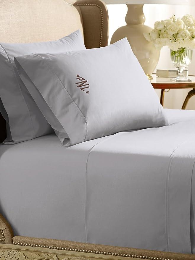 Amazon.com: King 464TC Flat Solid-Color Sheet, TUXEDO WHITE: Home & Kitchen