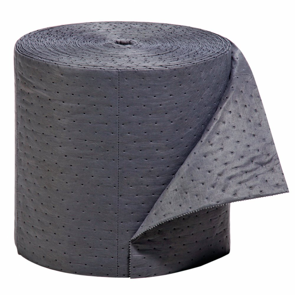 New Pig Absorbent Mat Roll, Extra Heavy Duty, 18-Gallon Absorbency, Heavyweight, Absorbs Oil and Water, 150' x 16'', 1 Roll, MAT176