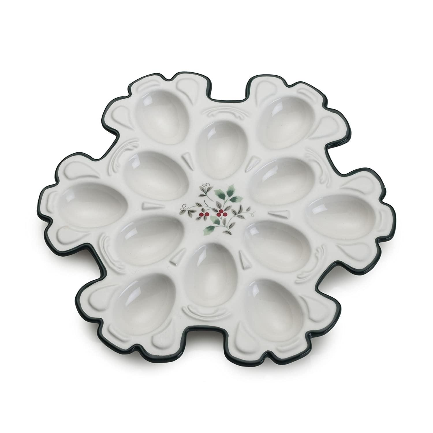 Includes 8 Deviled Egg 12 Diameter Presence Serving Trays Green Magenta Perfect for Any Party or Social Gathering and Orange Black Duck Brand Includes Blue