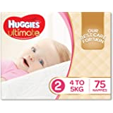 Huggies Ultimate Nappies, Girls, Size 2 (Pack of 75)