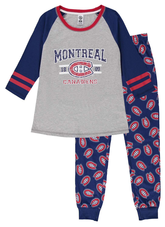 NHL Women's 2-Piece Pajama Set | Long Sleeve Top & Pants
