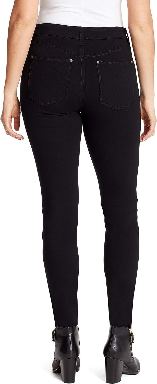 16P Black Gloria Vanderbilt Womens Petite Vickie Ponte Pant