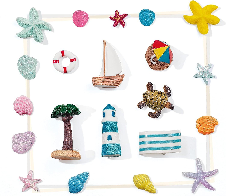 OVISEEN Dollhouse Decoration Beach Style Miniature Ornament Set for DIY Fairy Garden, Mini Ascape, Window Display and Plant Decoration