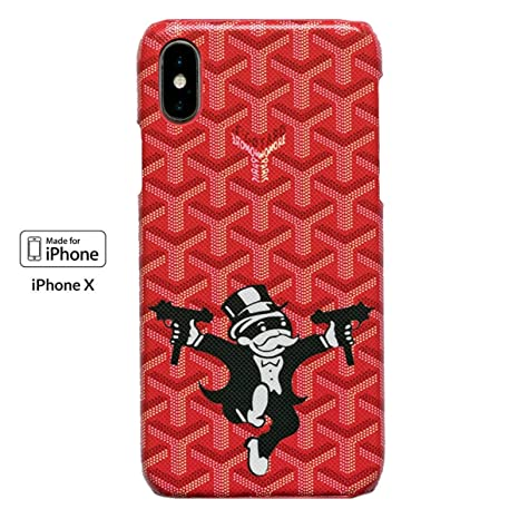 check out 89bde c5c41 iPhone Xs & iPhone X Red Goyard Hustler Boss Cases for iPhone  X/XS/7PLUS/8PLUS/XS MAX (iPhone X/XS, Red Hustler)