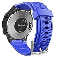MoKo Cinturino Per Huawei Watch 2, Braccialetto Ricambio Sportivo in Silicone per Huawei Watch 2nd, Blu Royal