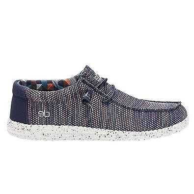 Dude Shoes Herren Wally Sox Blue Orange UK11 EU45: Amazon