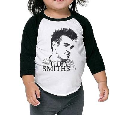 c421e4798994 Amazon.com: Girls 3/4 Sleeve The Smiths Rock Band Morrissey Sketch Raglan  Shirts Crazy Baseball Jerseys: Clothing