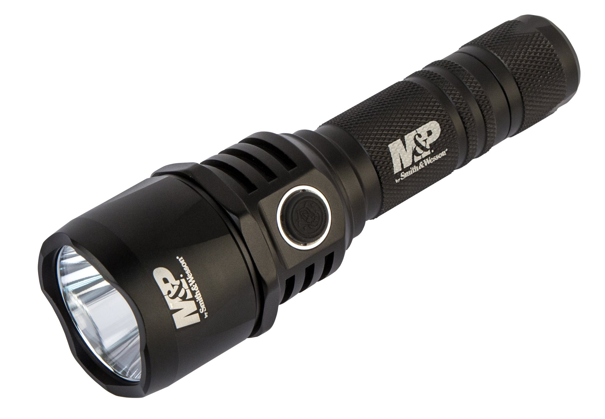 Smith & Wesson M&P by Duty Series MS, RXP LED Rechargeable Flashlight 1045 Lumens 1x8650 Impact & Water Resistant with Battery Bank to Charge Cellphones 1074566 by Smith & Wesson