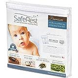 SafeRest(セイフレスト)プレミアム 低アレルギー性 防水性 認証 防トコジラミ(南京虫)ベビーベッド用マットレスエンケースメント- ビニール、PVC、フタル酸非使用 - (52 X 28 X 6インチ - 132 X 71 X 15.2cm)
