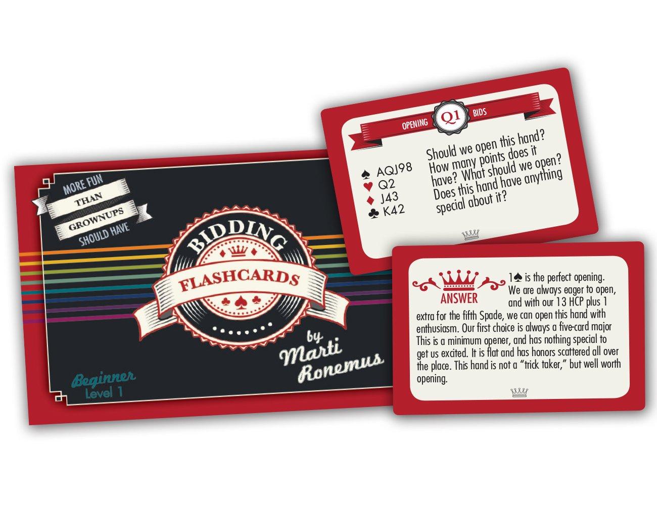 Bridge Bidding Flashcards Level 1 Marti Ronemus - Basic Bidding The Bridge  Player