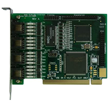 TE405P - Tarjeta Asterisk con 4 puertos E1 / T1, Conector PCI(5v)