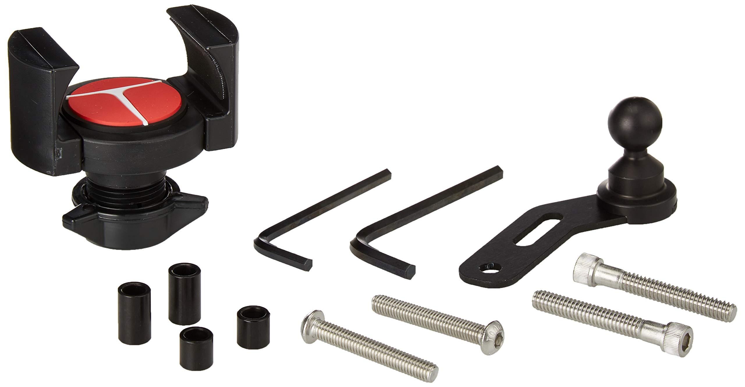 Universal Motorcycle Control Mount - Techmount 4-31001-B-TechGripper - The Most Dependable Holder for iPhone / GPS / MP3 Player - Extra Strong and Reliable - Adjustable to Fit Most Bikes and ALL Harleys