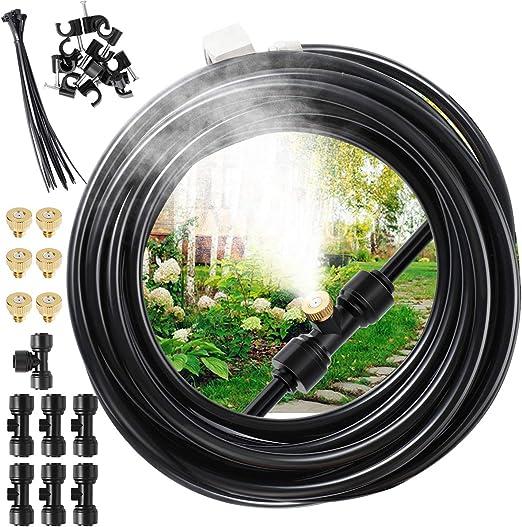 EXTSUD Kit Nebulizador Jardín, Sistema de Enfriamiento por Nebulización, Kit Nebulizadores para Terrazas con 7 Boquill (6M): Amazon.es: Jardín