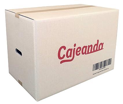 Pack de 20 Cajas de Cartón con Asas - Tamaño 550 x 350 x 370 mm - Canal Doble de Alta Calidad Reforzado y Resistentes - Fabricadas en España - Mudanza ...