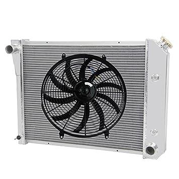 """primecooling 3 fila todos Radiador de aluminio + 16 """"ventilador para más Chevy Gm"""