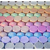 Non-Toxic Jumbo Sidewalk Chalk - 100 Pieces, Tapered Diameter Prevents Rolling Away