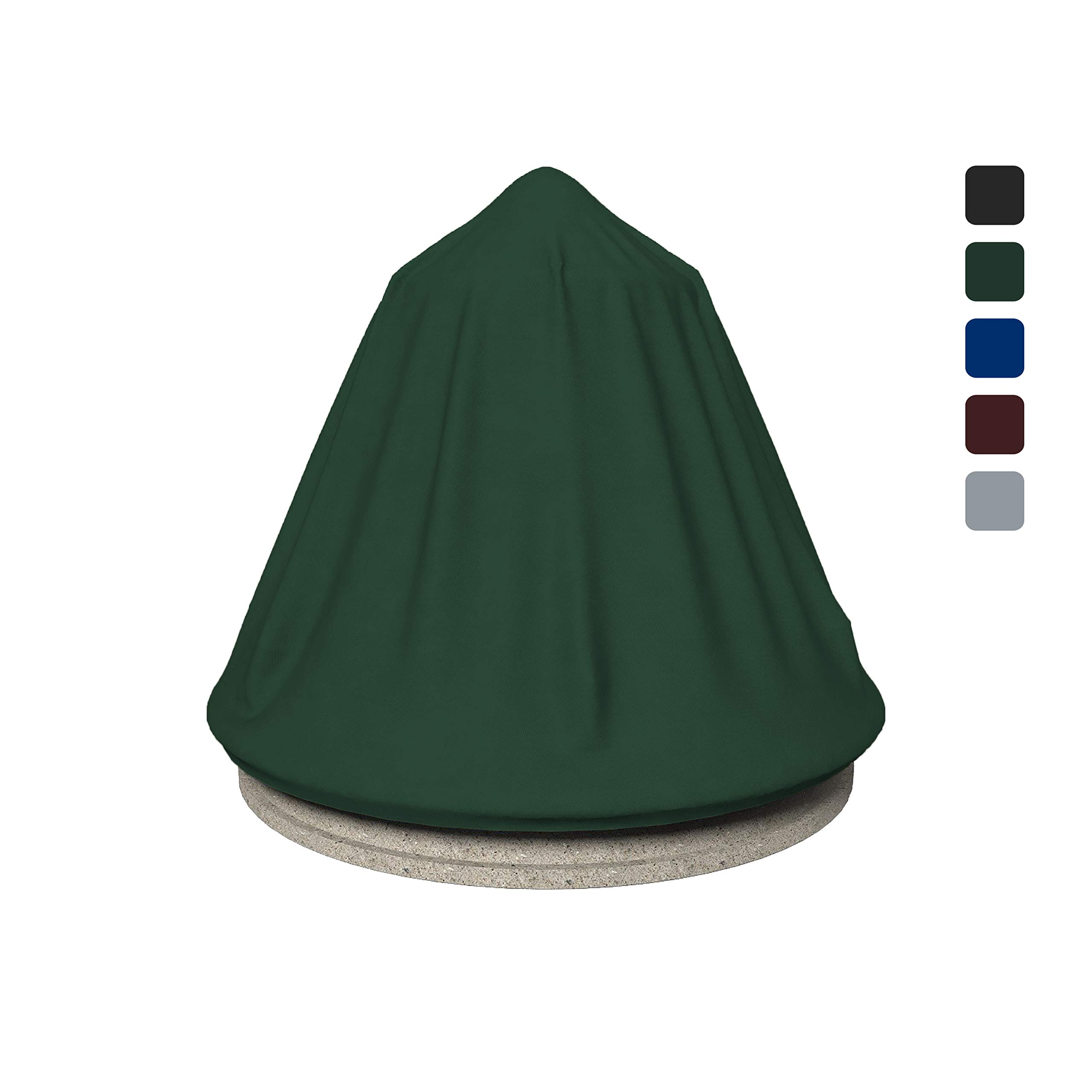 COVERS & ALL Fountain Cover 18 Oz Waterproof - Customize Cover with Any Size - 100% UV & Weather Resistant Water Fountain Cover with Air Pocket and Elastic with Snug Fit (36'' Dia x 42'' H, Green)