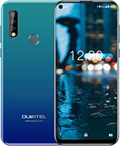 OUKITEL C17 Pro Unlocked Smartphone, International Unlocked Cell Phone Triple Camera Dual SIM with 4+64GB Octa-Core 3900 mAh 6.35 Inches HD+ Android 9.0 Phone Global 4G AT&T, T-Mobile, Metro, Cricket