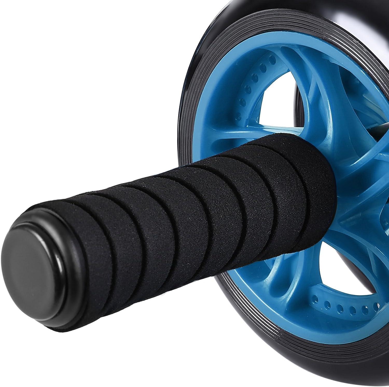 SONGMICS AB Roller AB Wheel Rueda para Flexiones Entrenamientos de Abdominals Push Up con Coj/ín del Arrodillamiento SPU75P