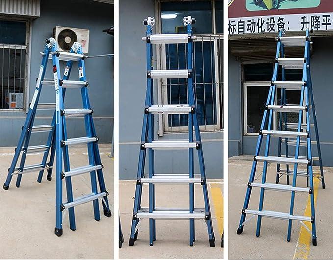 RFV Escalera telescópica Plegable multifunción, Escalera de Aluminio, Escalera de ingeniería, Escalera de Uso doméstico, Adecuada para la instalación de viviendas Null: Amazon.es: Deportes y aire libre