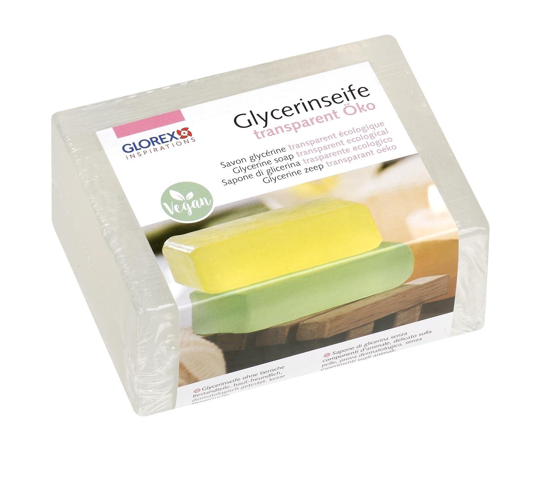Glorex 6 1600 - Jabón de glicerina ecológico, transparente, 500 g: Amazon.es: Hogar