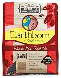 Earthborn Holistic Chicken Meal Recipe Holistic Oven-baked Dog Treats (Bison)