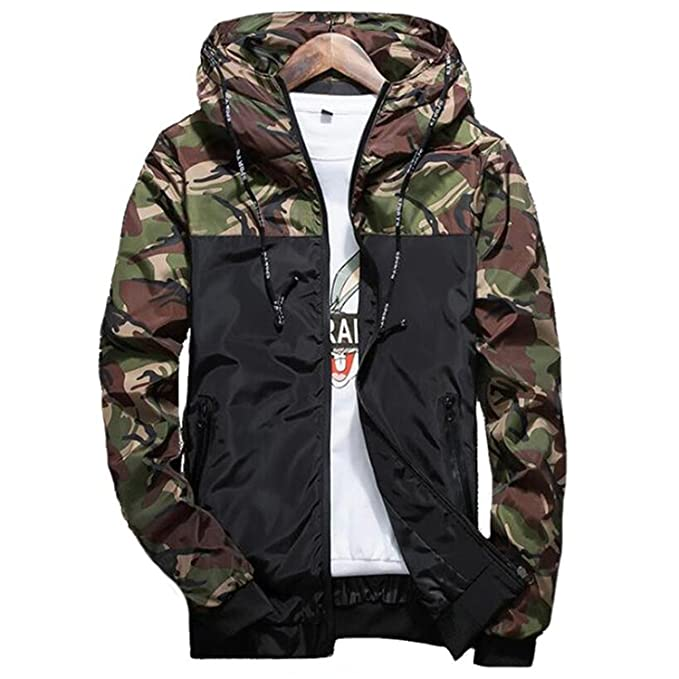 3d8659c614e89 2018 Hot Spring Autumn Men's Camouflage Coat Mens Hoodies Casual Jacket Mens  5XL Army Green M