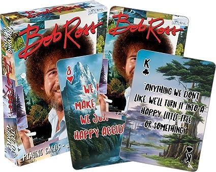 Amazoncom Aquarius Bob Ross Quotes Multi Image Playing Cards Deck