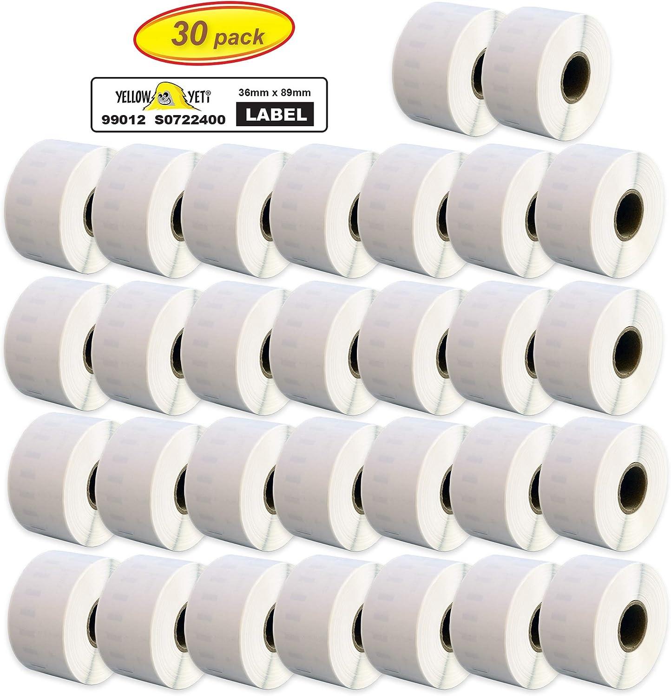 etichetta per Rotolo: 130 Printing Pleasure Kit 5 99010 28mm x 89mm Etichette Adesive Compatibile per Dymo LabelWriter 4XL 450 400 330 320 310 Twin Turbo Duo Seiko SLP 450 400 240 200 120 100 Pro