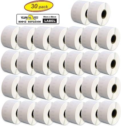 99012 DYMO//Seiko Compatible Adresse étiquettes Blanc 400 4XL 36 x 89 mm Haute Qualité