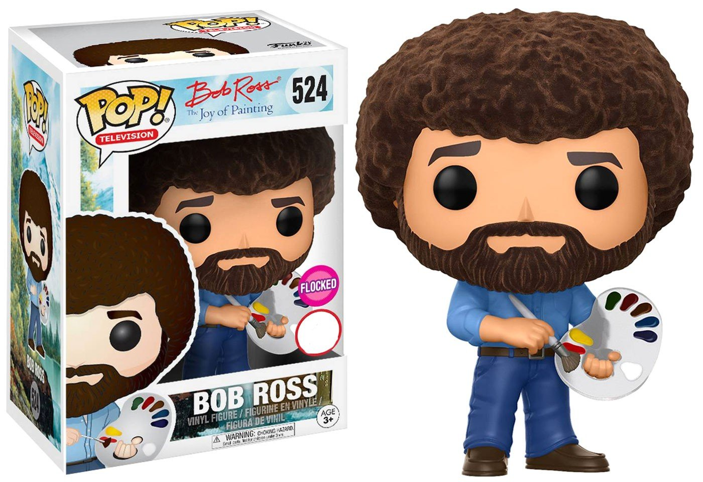 eeaad66efd2 Amazon.com  Funko POP! Flocked Bob Ross  524  Toys   Games