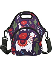 Neoprene Lunch Bag Reusable Tote Bag Insulated Lunch Box Adult Large Lunch Tote Handbag Fordable for Men & Women, Boys & Girls,