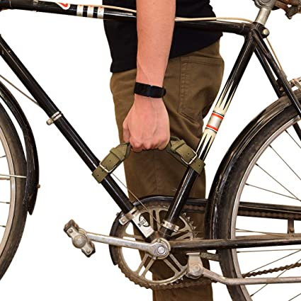 Bike Handle Handmade Bourbon Brown Hide /& Drink Durable Thick Leather Bicycle Frame Handle
