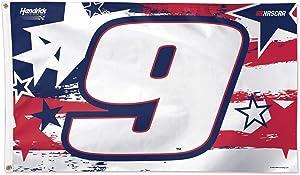 WinCraft NASCAR Hendrick Motorsports Chase Elliott NASCAR Chase Elliott Patriotic #9 3' X 5' Flag Deluxe, Multi, NA